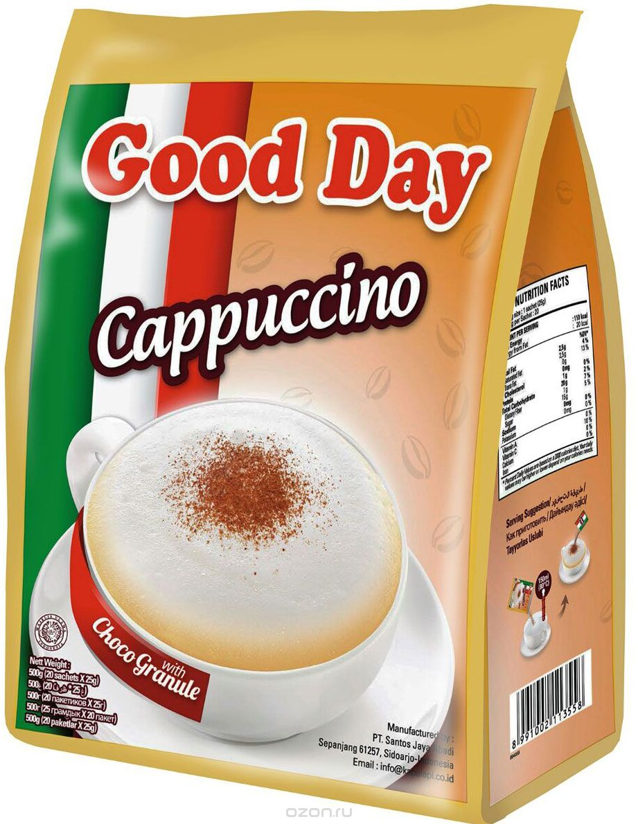 Кофе Good Day Cappuccino (20x25г)